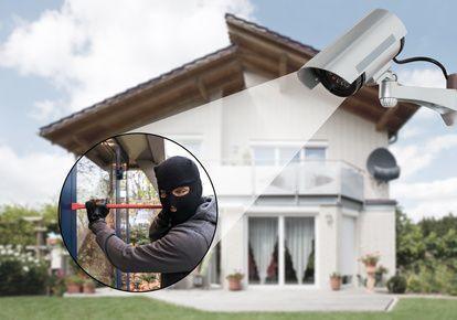 Überwachungskamera auf Einbrecher